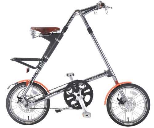 STRIDA(ストライダ) アルミ製16インチベルトドライブ折りたたみ自転車[リアキャリア/前後泥除け/ディスクブレーキ/折りたたみペダル標準装備] クローム STRIDA 5.0SE