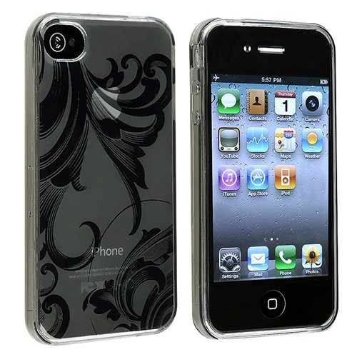 Smoke Flower TPU soft Gel Case Cover Compatible With iPhone 4 G -Best Deals And Discounts 2013