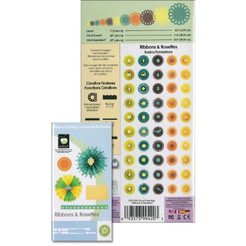 Cricut Ribbons & Rosettes Shapes Cartridge