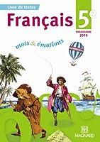 Français 5e : Programme 2010