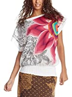 Desigual Blusa Big Flower Rep (Blanco)