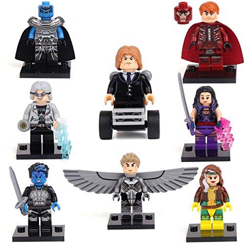 x-men-apocalypse-magneto-quicksilver-rogue-8-mini-figures-building-bricks-lego