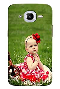 Omnam Sweet Girl Sitting On Grass Printed Back Cover Case For Samsung Galaxy J2 2016