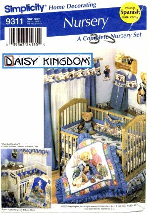 Simplicity 9311 Sewing Pattern Daisy Kingdom Nursery Quilt Sheet Diaper Stacker Bag front-846664