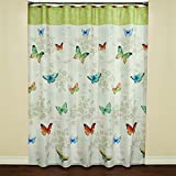 Saturday Knight Butterfly Bliss Fabric Shower Curtain, Multicolor