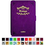 Fintie Kindle Paperwhite SmartShell Case - The Thinnest and Lightest Cover for All-New Amazon Kindle Paperwhite (Fits All versions: 2012, 2013, 2014 and 2015 New 300 PPI), Vintage Glory Purple