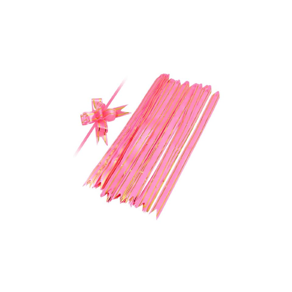 5 Bags Gift Wrap Bowtie Designed DIY Pull Bow Ribbons Pink for Wedding Health & Personal Care