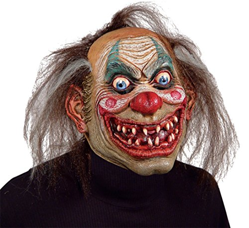Carnival Drifter Insane Killer Scary Clown Latex Adult Halloween Costume Mask