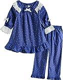 [Vaenait Baby] 子供キッズガールズ4-12歳綿100%七分袖パジャマ寝間着ルームウェア上下セット Dorothy S