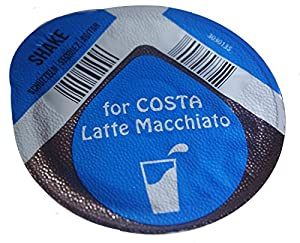 48 x Tassimo Costa Latte 325ml Milk Creamer Pods Only (NO COFFEE DISCS) SOLD LOOSE - New Smaller Disc