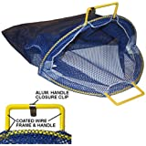 """Large Coated Galvanized Wire Handle Mesh Catch Bag, Blue 24"""" x 28"""""""