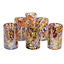 Blown glass tumblers 'Carnival' (set of 6)