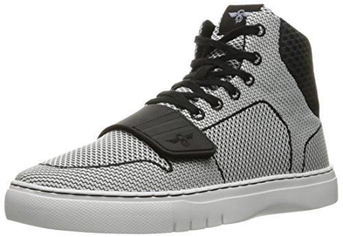 Creative Recreation Men's Cesario Woven Fashion Sneaker, Black/White, 9 M US