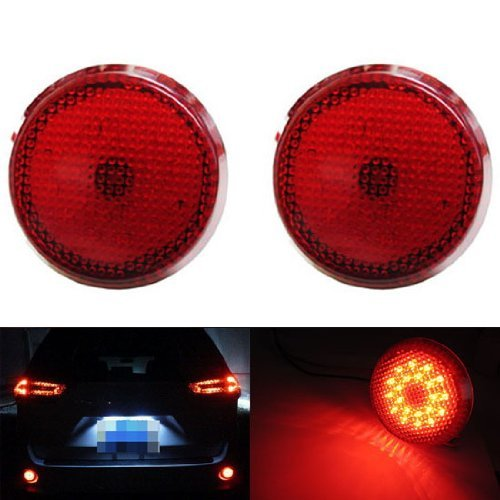 iJDMTOY (2) OEM Red Lens 21-SMD Red LED Bumper Reflectors For 2008 up Toyota Highlander Sequoia Voxy As Brake Tail Lights (Toyota Voxy Parts compare prices)