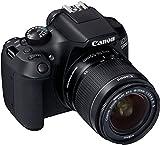 Canon EOS 1300D Digitale Spiegelreflexkamera (18 Megapixel, APS-C CMOS-Sensor, WLAN mit NFC, Full-HD) Kit inkl. EF-S 18-55mm IS Objektiv schwarz -