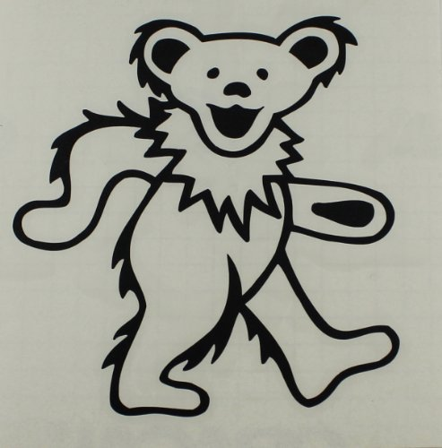 Licenses Products Grateful Dead - Dancing Bear Rub-On Sticker, Black - 1