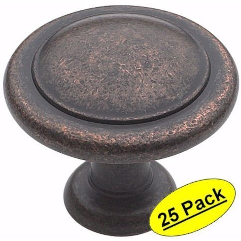 Amerock BP1387-RBZ Rustic Bronze Reflections Round Cabinet Hardware Knob, 1-1/4