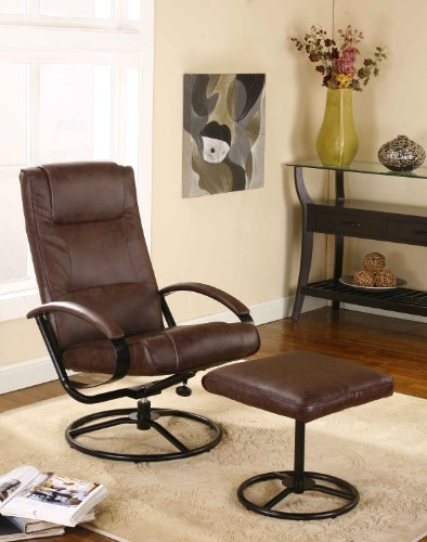 Swivel Recliner And Ottoman front-1061023