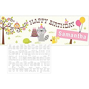 Happi Woodland Girl Party Banner from Creative Converting