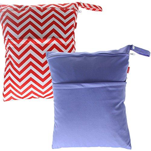 damero-2pcs-pacco-carino-bambino-di-corsa-wet-and-dry-cloth-diaper-organizzatore-tote-bag-large-purp