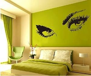 Large audrey hepburn 39 s eyes vinyl wall decal for Audrey hepburn bedroom designs