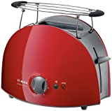 Bosch Toaster private collection rot TAT 6104, 900 Watt, Broetchenaufsatz