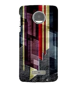 PrintVisa Modern Art Dark Pattern 3D Hard Polycarbonate Designer Back Case Cover for Motorola Moto Z