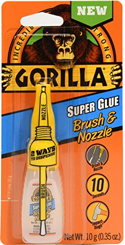 Gorilla Super Glue Brush & Nozzle, 10 g, Clear (Wood Glue Brush compare prices)