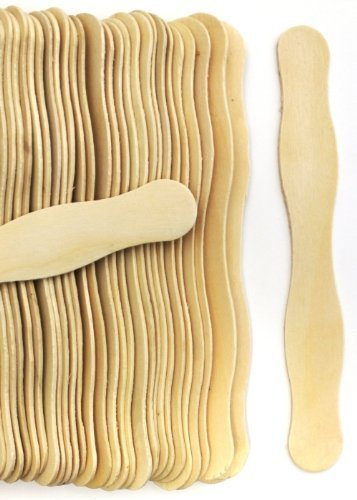 100 Natural Wavy Jumbo Wood Fan Handles Wedding Fan Sticks (Fan Paddles compare prices)