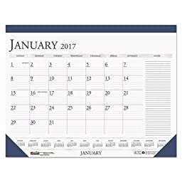House of Doolittle 2016 Monthly Desk Pad Calendar, Classic with Notes Section, 22 x 17 Inches (HOD164-16)