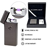 SaberLight - Revolutionary Flameless Plasma Beam Lighter - Rechargeable - Airport Safe - Butane Free - Flameless - Splash Proof - Windproof - No Harmful Chemicals - Lifetime Warranty