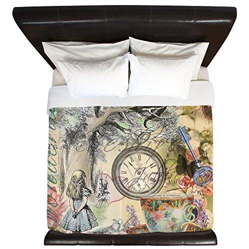 CafePress - Cheshire Cat Alice In Wonderland - King Duvet Cover, Printed Comforter Cover, Unique Bedding, Luxe (Alice In Wonderland Quilt compare prices)