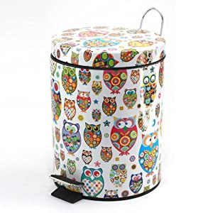 Owl Theme Fashion Garbage Can Girls Room Decor Teen Room Decor Girls Owl Room Decor by Finelife Products