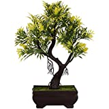Adaspo Artificial Plant, Chartreuse Yellow And Green Leaves In Melamine Pot (25 Cm)