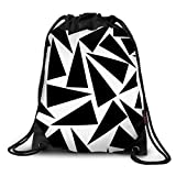 FUNKYLICIOUS Drawstring Polyester Black angles Design (Multicolour)