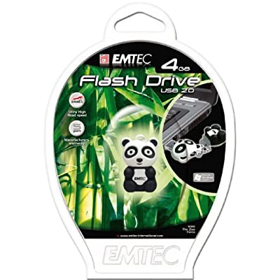 EMTEC Animal Series 4 GB USB 2.0 Flash Drive, Panda