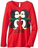 Beautees Big Girls Kissing Penguins T-Shirt