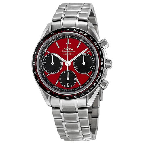 Omega Speedmaster Racing Automatic Chronograph Red Dial Stainless Steel Mens Watch 32630405011001