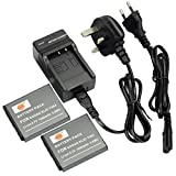 DSTE 2pcs KLIC-7004 Rechargeable Li-ion Battery + Charger DC30U for Kodak EasyShare M1033, M1093, M2008, PlayFull Dual, PlaySport, PlayTouch, V1073, V1273, V1233, V1253, Zi8, Zx3, Zi12 Digital Cameras