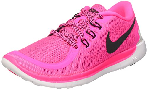 best website eeb87 d9ae5 Nike Kids Free 5.0 (GS) Pink Pow Black Vivid Pink Wht Running Shoe 4 Kids  US   The Running Authority