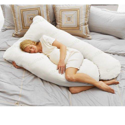 Today's Mom Coolmax Pregnancy Pillow, White - 1