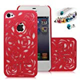 Cocoz®romantic Red Roses Carved Palace Fashion Design Hard Case Cover Skin Protector for Iphone 4/4s At&t Sprint...