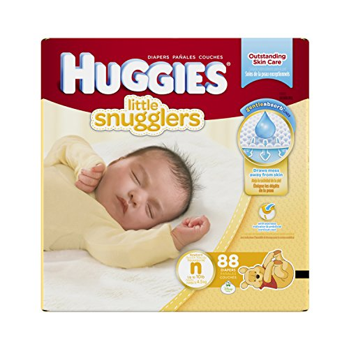 Huggies Little Snugglers Diapers, Newborn, 88 Count (Packaging May Vary)