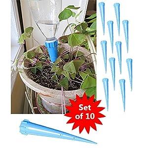 evelots lot de 10 piquets pour arrosage bouteilles d 39 eau. Black Bedroom Furniture Sets. Home Design Ideas