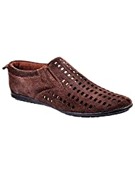 Aureno Men's Suede Sneakers - B011BGCRHK