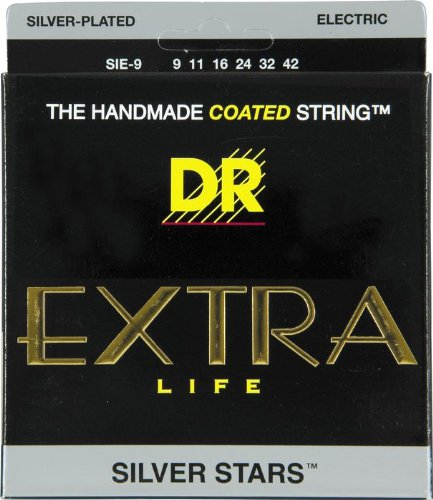 Dr Strings Silver Stars - Extra-Life Silver Coated Electric 9-42