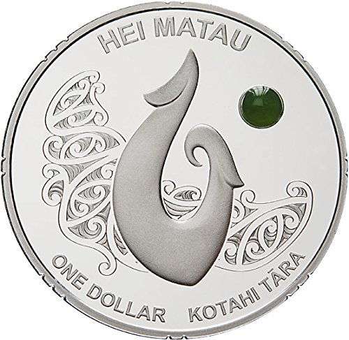 2012 Nz Maori Art Hei Matau Maori Art Pounamu Greenstone Silver Coin 1$ New Zealand 2012 Dollar Perfect Uncirculated