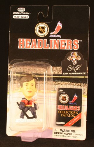 JOHN VANBIESBROUCK / FLORIDA PANTHERS * 3 INCH * 1997 NHL Headliners Hockey Collector Figure
