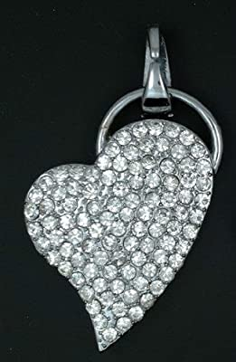 usb key 8 GB fun flash memory stick - heart valentine day silver color(Import from Hong Kong) from funkymemories