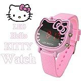 Hot Selling Rhinestone Hello Kitty Girls Watch Bracelet Bangle Fashion Lady's Watch Gift For Girls XH45-385